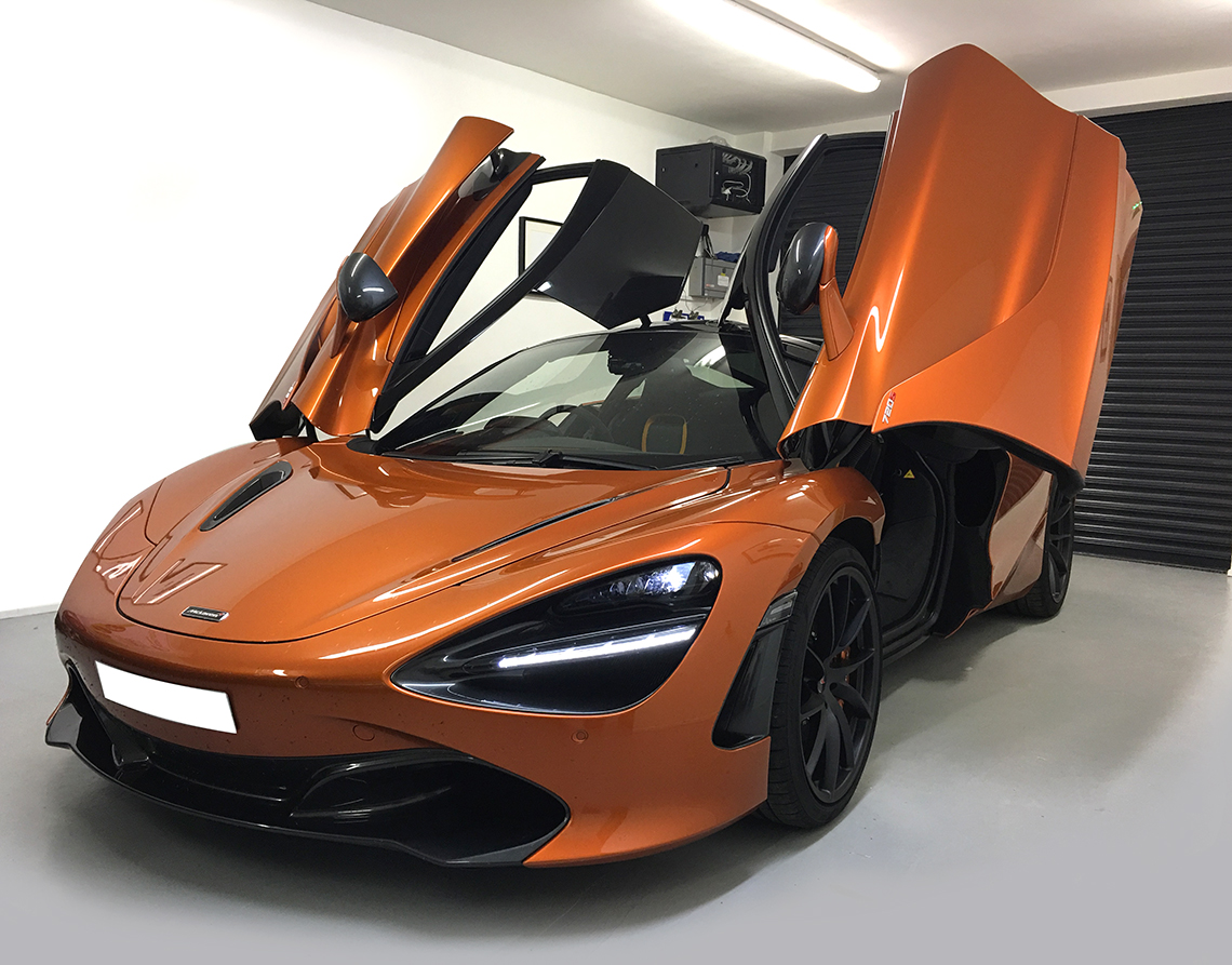 TTW Installations - Approved Blackvue Installations - Dedicated Fitting Bay - Mclaren 720s Blackvue Dash Camera Install