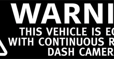 Warning Dash Cameras Recording On this Vehicle Stickers - Blackvue
