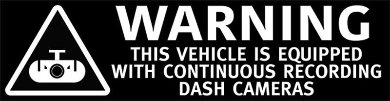Warning Dash Cameras Recording On this Vehicle Stickers - Blackvue